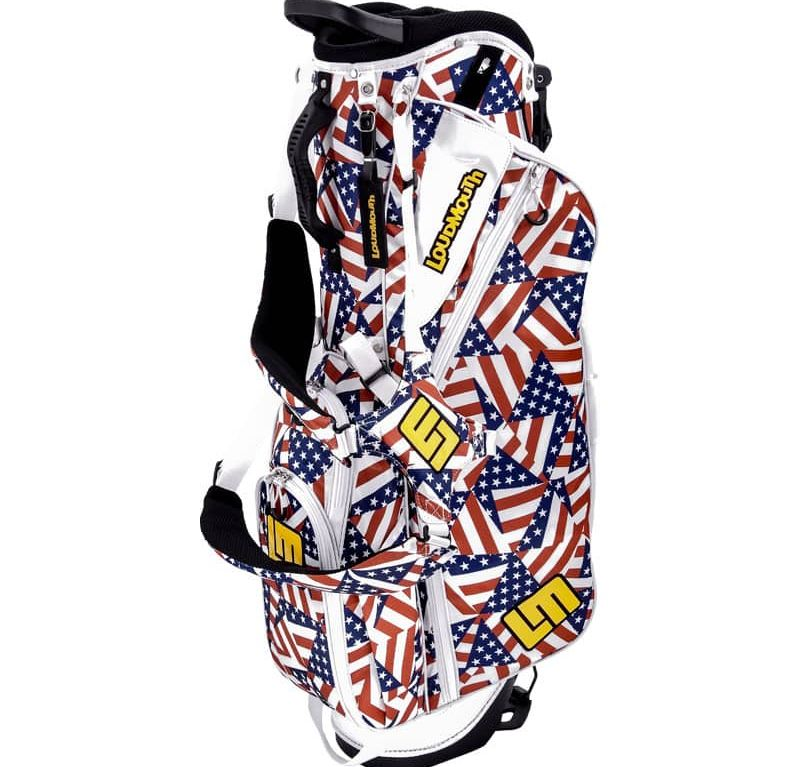 Flagadelic 8.5 Inch Double Strap Golf Bag