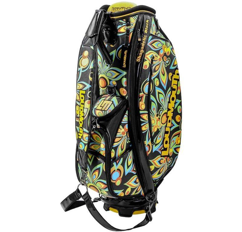 Shagadelic Black 9 Inch Staff Golf Bag