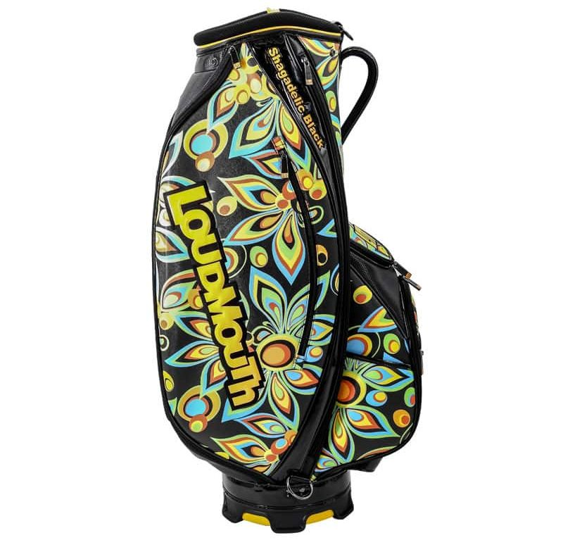 Shagadelic Black 9 Inch Staff Golf Bag