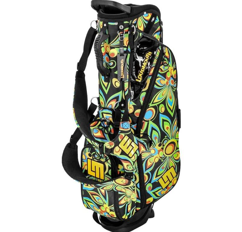 Shagadelic Black 8.5 Inch Double Strap Golf Bag